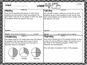 Word Problems 3rd Grade Bundle