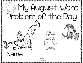 Word Problems 3rd Grade, August