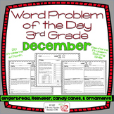 Word Problems 3rd Grade, December