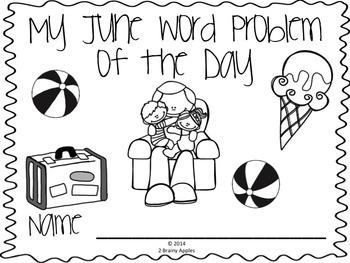 Word Problems 3rd Grade, June