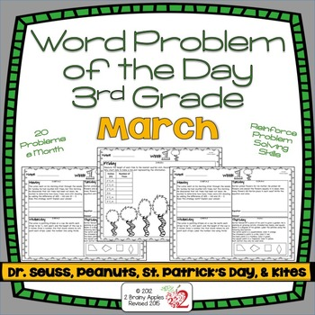 Word Problems 3rd Grade, March