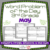 Word Problems 3rd Grade, May, Spiral Review, Distance Learning