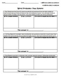 3rd Grade Common Core Word Problems Pack - 9 Famous Americans