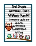 3rd Grade Common Core Writing Bundle: Opinion, Informative and Narrative Writing
