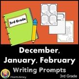 Writing Prompts 3rd Grade Common Core Bundle December, Jan