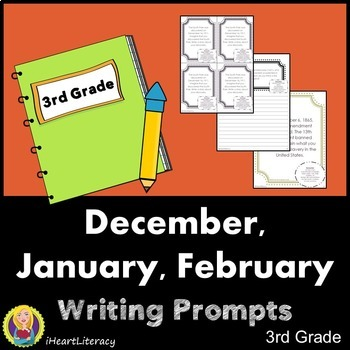 Writing Prompts 3rd Grade Common Core Bundle – December, J