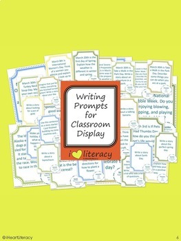 Writing Prompts 3rd Grade Common Core Bundle March, April, and May