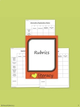 Writing Prompts 3rd Grade Common Core Bundle - September, October, & November