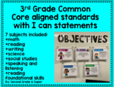 3rd Grade Common Core standards with I can statements