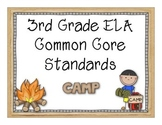 3rd Grade Common Core for Posting - Camp Theme