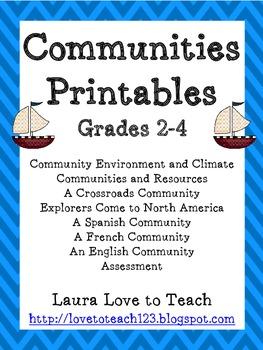 3rd Grade Communities Packet