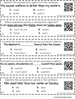 3rd Grade Adjectives & Adverbs that Compare | Comparative & Superlative