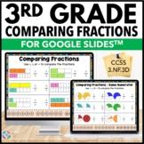 3rd Grade Comparing Fractions {3.NF.3, 3.NF.3D} Google Classroom