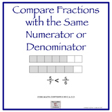 3rd Grade:Lessons Comparing Fractions with the same Numera