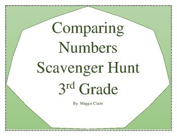 3rd Grade Comparing Numbers Scavenger Hunt