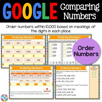 3rd Grade Comparing Numbers to 10,000 Digital Practice - Google Classroom