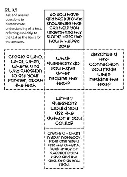 3rd Grade Comprehension Cubes for Reading Literature - Common Core Standards