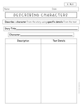 3rd Grade Comprehension Sheets~Anytime, Any Book, RL and RI CCSS