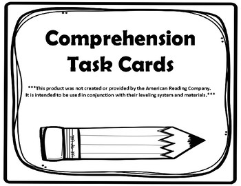 3rd Grade Comprehension Task Cards Aligned to the American Reading Company IRLA