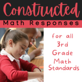 3rd Grade MATH Constructed Responses for Interactive Notebook/ Journal