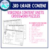 3rd Grade Content Crossword Puzzles (VA)