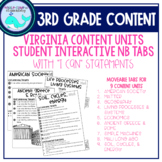 3rd Grade Content Notebook Learning Target Tabs (VA)