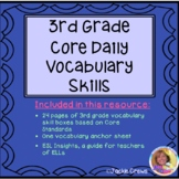 3rd Grade Core Daily Vocabulary Skills Review Boxes