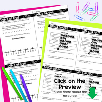 3rd Grade DATA ANALYSIS Exit Slips * Exit Tickets
