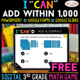 3rd Grade DIGITAL I CAN Math Game | Add & Subtract within