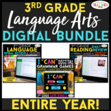 3rd Grade DIGITAL Language Arts BUNDLE   Google Classroom