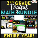 3rd Grade DIGITAL Math BUNDLE   Google Classroom   Spiral