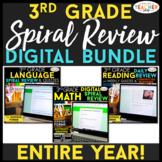 3rd Grade DIGITAL Spiral Review BUNDLE | Google Classroom