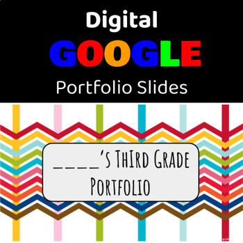 3rd Grade DIGITAL Student Portfolio with MAPS Data Tracker FREEBIE