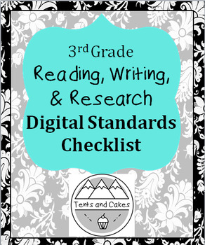 3rd Grade DIGITAL Writing, Grammar, and Research Common Core Standards Checklist