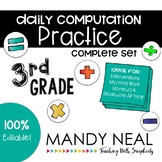 3rd Grade Daily Computation Math Practice/ Spiral Review /Homework Practice