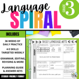 3rd Grade Language Spiral Review: Daily grammar, word work