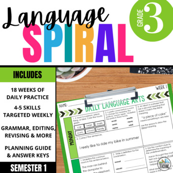 3rd Grade Daily ELA for Writing & Language: Morning Work for Weeks 1-9