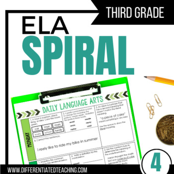3rd Grade Daily ELA for Writing & Language: Morning Work for Weeks 28-36