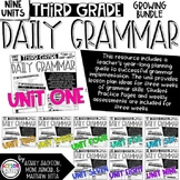 3rd Grade Daily Grammar Growing Bundle