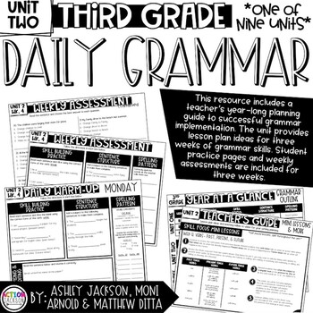 3rd Grade Daily Grammar Unit 2