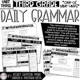3rd Grade Daily Grammar Unit 3