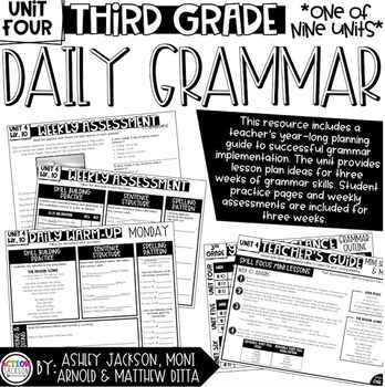 3rd Grade Daily Grammar Unit 4