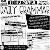 3rd Grade Daily Grammar Unit 7