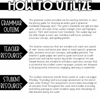 3rd Grade Daily Grammar Unit 9