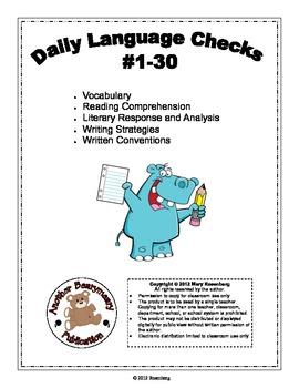 3rd Grade Daily Language Checks #1-30