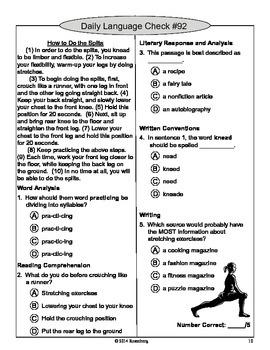 3rd Grade Daily Language Checks #91-120