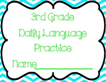 3rd Grade Daily Language Practice (36 weeks)