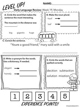 3rd Grade Daily Language Review: 3rd Quarter, weeks 19-27