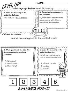 3rd Grade Daily Language Review: 4th Quarter, Weeks 28-36