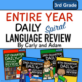 3rd Grade Daily Language Review: Entire Year Bundle